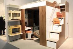 Casa Collection's Urbano Loft Bed is the answer to your small space storage problems stairs