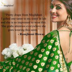 #customertestimonials #sarees #fashion #style Customer Feedback, Sister In Law, Silk Sarees, Indian, Pretty, How To Wear, Style, Fashion, Swag