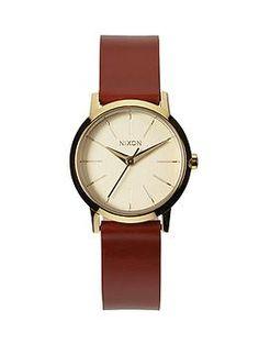 Nixon Kenzi Leather Watch | Piperlime
