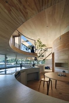 Circular Kitchen with Natural Light for that cabin in the mountains