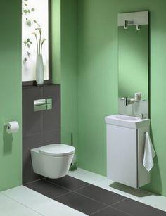 """Die elegante Möbelfarbe """"Hochglanz weiß lackiert"""" unterstreicht die klare Formensprache von TONICguest. Sie eignet sich für ein edles, Ton in Ton gestaltetes Bad ebenso wie für die Kombination mit kraftvollen, farbigen Akzenten, beispielsweise durch farbige Wände.Das Gäste-WC wird so zu einem Raum mit Design und  Komfort selbst bei minimalem Platz! oder Accessoires."""