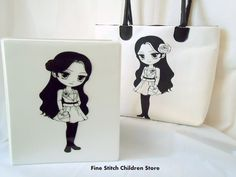 Girls Black and White Tote Bag/Professional Marcy