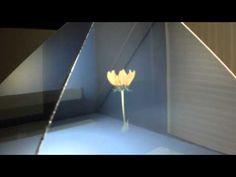 hologram display _flower - YouTube