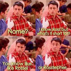 Just Ross. Pretty!  #FRIENDS