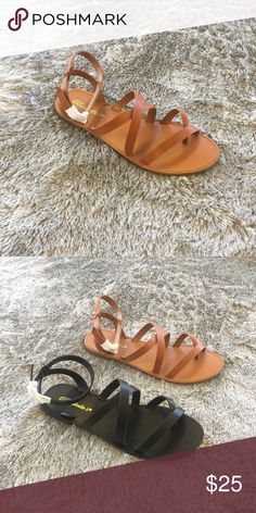 Under Wraps Sandal - Tan New with box | Boutique brand | Faux Leather | True to size | LF Shoes Sandals
