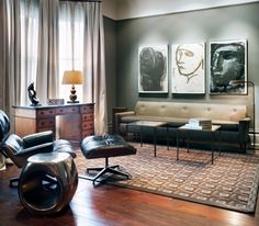 The Eames Lounge Chair has always seemed at home with sophisticated interiors. | japanesetrash.com