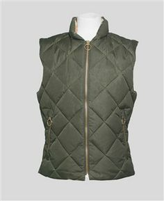 OLIVE  QUILTED GILET - OLIVE Online or in-store - The Allotment Store