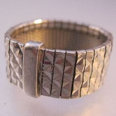 REEB Italy Sterling Silver Band Mesh Ring by BrightEyesTreasures