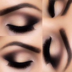 Makeup & Art | ko-te.com by @evatornado collection- This is pretty but it also looks fake Sexy Eye Makeup, Pretty Eye Makeup, Neutral Eye Makeup, Black Eye Makeup, Makeup With Black Dress, Cute Makeup, Gorgeous Makeup, Eye Makeup Tips, Makeup Goals