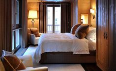 Rustic modern bedroom to die for. | Nicky Dobree, Interior Designer,Luxury Ski Chalet Design, Contemporary Residential Interiors