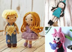 Such beautiful crochet doll will be an amazing gift for little girls, because it's even more stunning than Barbie! One of the coolest things is also the fact, that you can custom-make entire wardrobe for her. #freecrochetpattern #amigurumi #toy