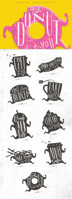 RUNNING FOOD & DRINK by Anna on @creativemarket