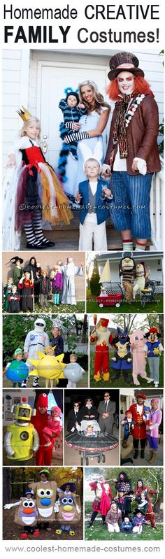 Top 10 DIY Creative Family Costume Ideas.. I have totally talked about doing an Alice In Wonderland Theme...!!!!