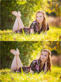 Pose Ideas - Laying in Grass - Senior picture ideas - Photographer Columbia MO Kacey D Photography