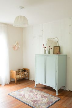 light blue armoire