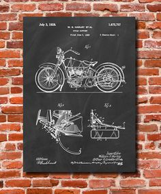 Harley Davidson Wall Decor 4 panels hd prints motorcycle harley davidson canvas vehicle wall