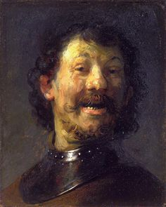 Rembrandt - bust of a laughing man