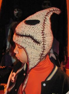 Oogie Boogie Hat, Crocheted Beanie <3 <3 <3 <3 !!!!! I WILL figure out how to make this....I swear.