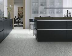 dalle organique clipsable effet carreaux de ciment mosaque blanche wineo 800 craft dalle - Lame Pvc A Coller