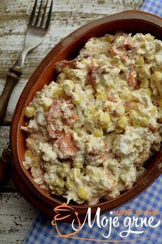 Pileća salata sa pečenim paprikama Copycat Recipes, My Recipes, Salad Recipes, Cooking Recipes, Healthy Recipes, Serbian Recipes, Serbian Food, Appetizer Salads, Appetizers