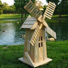 Found it at Wayfair - Windmill Lawn Ornament Wooden Windmill, Windmill Decor, Dutch Windmill, Lawn And Garden, Garden Art, Adirondack Furniture, Diy Bird Feeder, Wooden Garden, Cedar Garden
