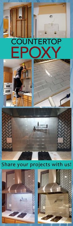 Sleek epoxy backsplash created by Tony Pham with Countertop Epoxy! Share your projects with us receive a discount on your next order!