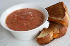 La Madelines Tomato Basil Soup. The BEST