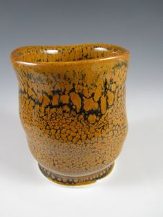 Oil Spot Yunomi 005 by johnbrittpottery on Etsy