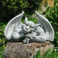 drache, dragon, gothic, steinfigur, skulptur, garten, deko, massiv, Garten ideen