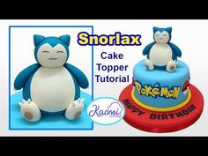 Pokemon: Snorlax Cake Topper / Cómo hacer a Snorlax para tortas - YouTube