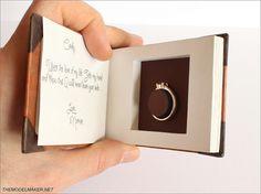 custom disney/pixar up inspired engagement ring box