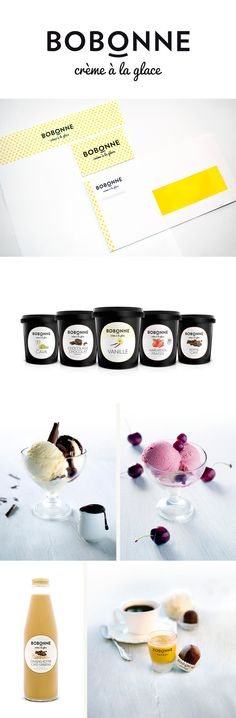 Bobonne ice cream. it's never too early for ice cream #packaging #branding PD