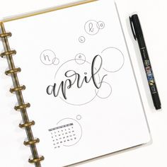 newest posts : bulletjournal, bullet journal monthly cover page, April cover page, hand lettering.