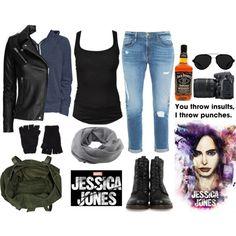 Jessica Jones by teenwolf-inspired on Polyvore featuring Isabel Marant, Old Navy, IRO, Frame Denim, Frye, River Island, Coal, The Elder Statesman, 3.1 Phillip Lim and Nikon