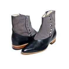 1920's vintage inspired boots Spats Gray victorian von goodbyefolk, $280.00
