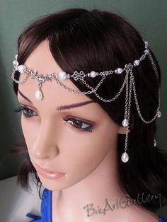Floral Pearl Renaissance Medieval Celtic Circlet Headpiece ...