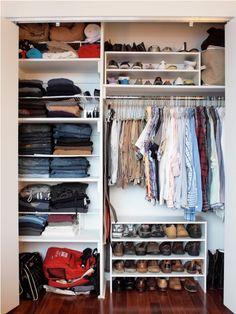man closet organization