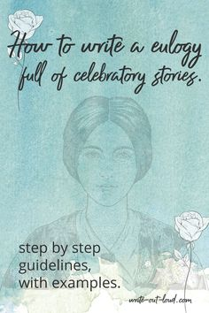 Step by step guidelines, with examples, to help prepare a truly celebratory tribute to the person whose life you want to honor. Speech Writing Tips, Writing A Eulogy, Writing Strategies, Public Speaking Activities, Public Speaking Tips, Funeral Speech, Confidence Building, Teacher Resources, Lesson Plans