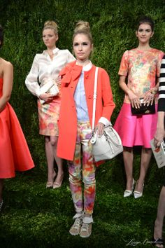 Kate Spade Spring 2014 Presentation {cute orange trench coat}