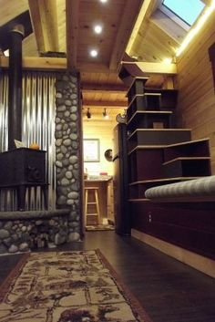 While they're a bit bulky and must weigh a ton, they sure do look great, both in the walls and along the ceiling of the sleeping loft.  #TinyHouseforUs