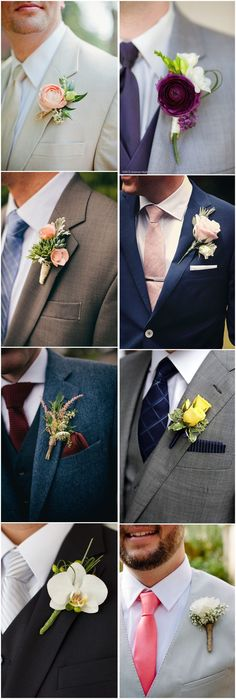 Wedding Ideas » Wedding Boutonniere » 23 Wedding Boutonniere Ideas You Cannot Resist! ??See more:http://www.weddinginclude.com/2017/03/wedding-boutonniere-ideas-you-cannot-resist/
