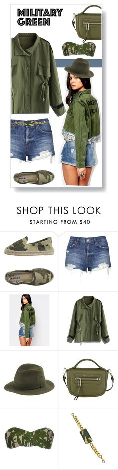 """""""Attention! Go Army Green"""" by lucksmetoo ❤ liked on Polyvore featuring Manebí, Topshop, Milk It, Chicwish, Barbisio, Michael Kors, Holy Harlot, military and Gogreen"""