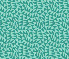 triangle swirl in jade fabric by weavingmajor on Spoonflower - custom fabric