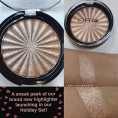 NEW Highlighter in BLISSFUL by Ofra Cosmetics!!! Will be part of the upcoming Holidays 2016 Set Use code: TRENDMOOD for 30% off!!!   One of my favorite highlighters is Rodeo Drive by Ofra so I'm excited to try this new baby.