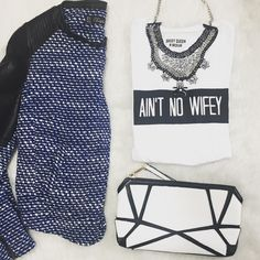 #Aint No #Wifey ! ••••••••••••••••••••••••••••• #lookbook #mystyle #ootd #styleinspiration #style #stylistpic #musthave #supportsmallbusiness  #shop #etsygifts  #fashion #fashionstyle #fashionstatement #streetstyle #streetfashion #statementpiece #houston