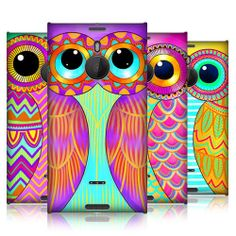 HEAD CASE OWL ILLUSTRATED PROTECTIVE SNAP-ON CASE FOR NOKIA LUMIA 1520 #HeadCaseDesigns