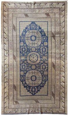 Turkestanian Khotan rug, circa 1800
