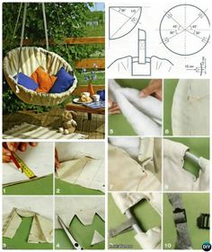 10 DIY Hammock Projects Picture Instructions with hammock stand, too. Easy Sew or Macrame Hammock Projects for Indoor and Outdoor Relax. Diy Hammock, Hammock Chair, Swinging Chair, Hammock Stand, Hammocks, Diy Furniture Chair, Diy Chair, Antique Furniture, Furniture Stores