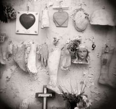 St. Roch Cemetery, New Orleans, LA ~ Heartbreaking, beautiful! | From a unique collection of black and white photography at http://www.1stdibs.com/art/photography/black-white-photography/