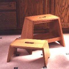 31-DP-00404 - Step Stools Downloadable Woodworking Plan PDF